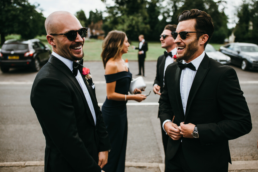 Super elegant and sophisticated black tie wedding in Hertfordshire, photographer credit Simon Biffen Photography (16)