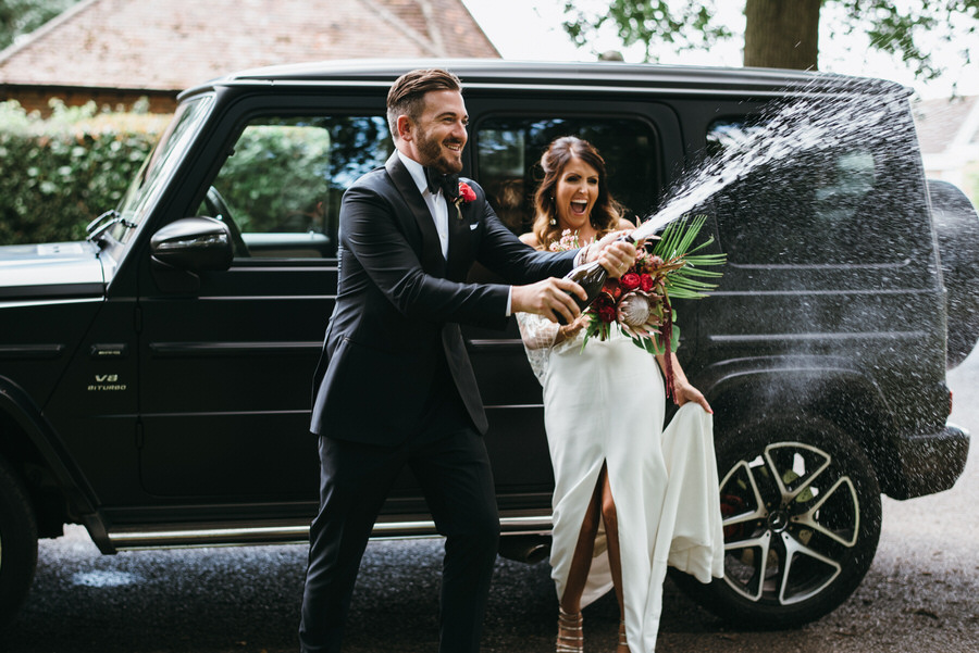 Super elegant and sophisticated black tie wedding in Hertfordshire, photographer credit Simon Biffen Photography (26)