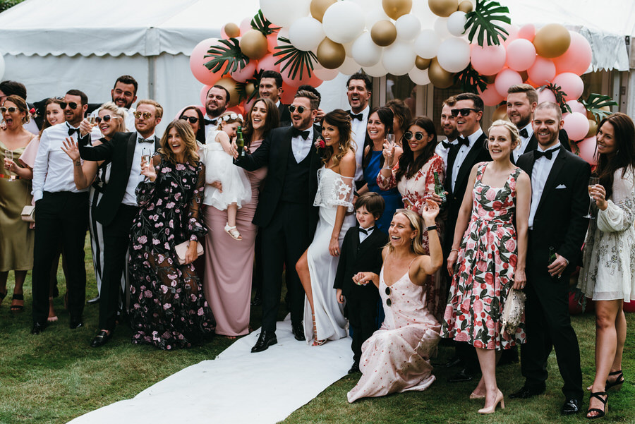 Super elegant and sophisticated black tie wedding in Hertfordshire, photographer credit Simon Biffen Photography (40)
