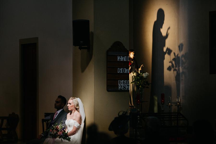 Beautiful church wedding portrait by John Hope Photography