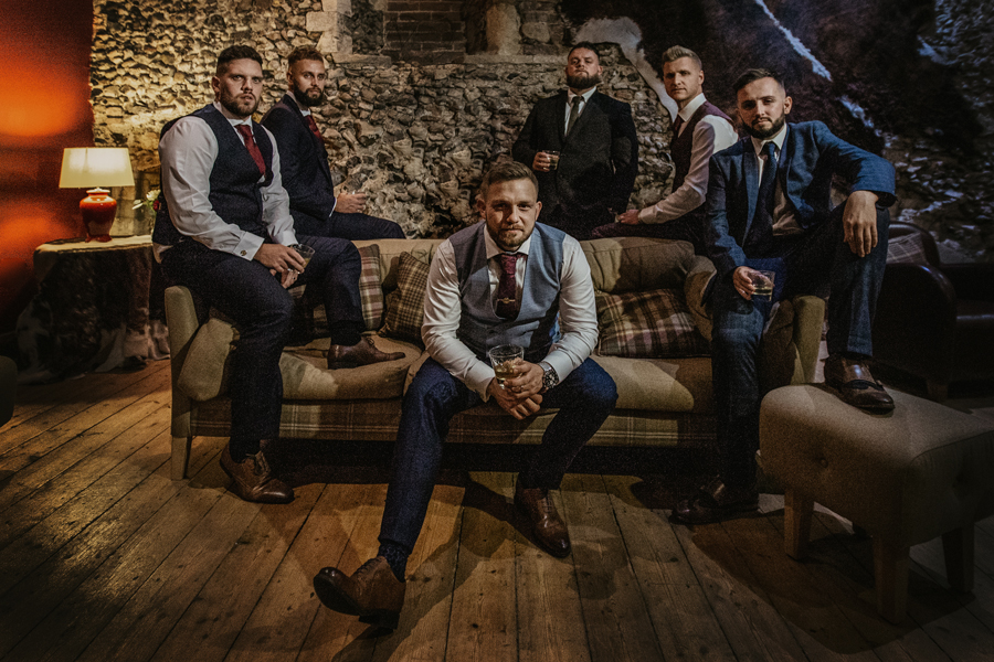 Groomsmen at Langley Abbey by October James Photography