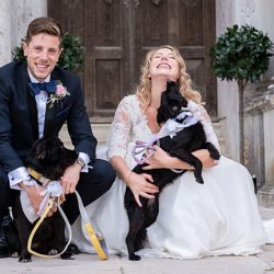 Emily & Joe's timeless and classic Lulworth Castle wedding, with Linus Moran Photography