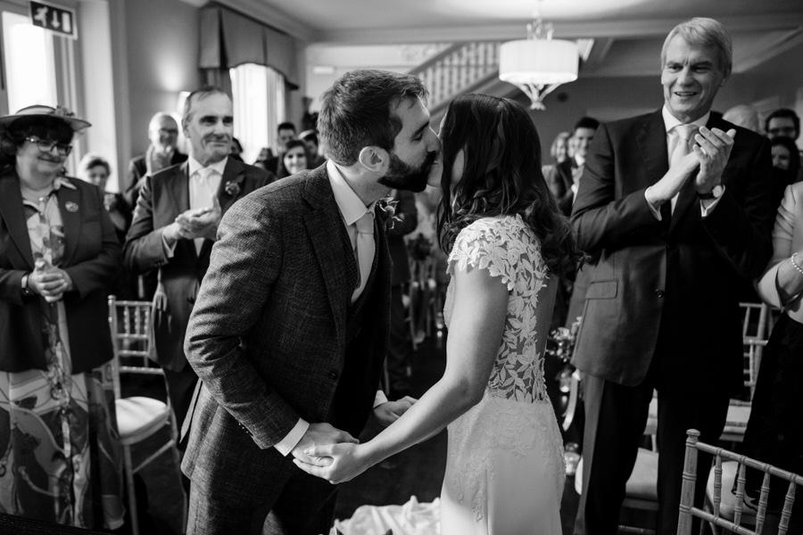 James & Sarah's chic, modern Morden Hall wedding, with Simon Biffen Photography (20)