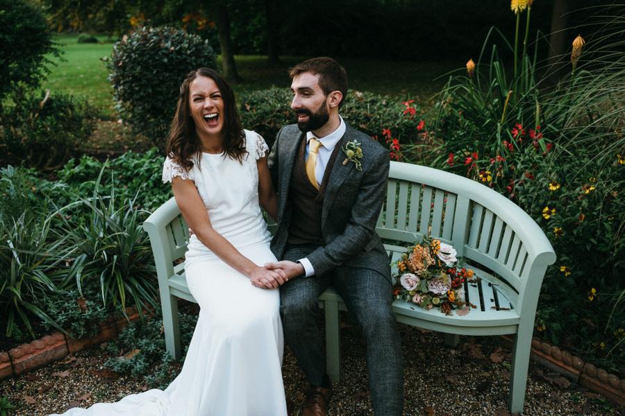 James & Sarah's chic, modern Morden Hall wedding, with Simon Biffen Photography (31)