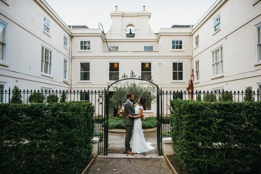 James & Sarah's chic, modern Morden Hall wedding, with Simon Biffen Photography (32)