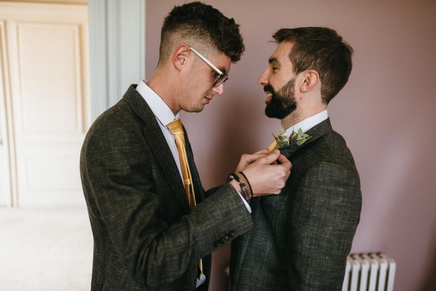 James & Sarah's chic, modern Morden Hall wedding, with Simon Biffen Photography (8)
