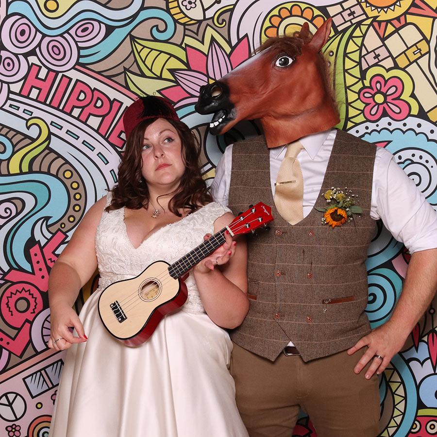 Hampshire wedding photo booth