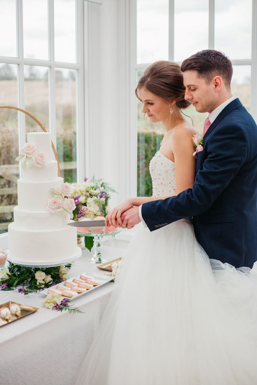 Light and romance with natural blush tones - wedding ideas from Downham Hall. Photographer credit Magical Moments Photography (44)