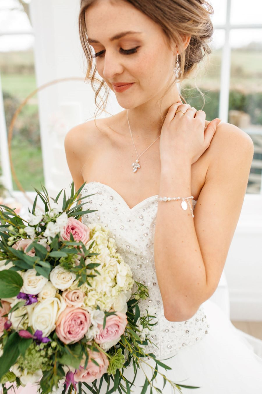 Light and romance with natural blush tones - wedding ideas from Downham Hall. Photographer credit Magical Moments Photography (45)