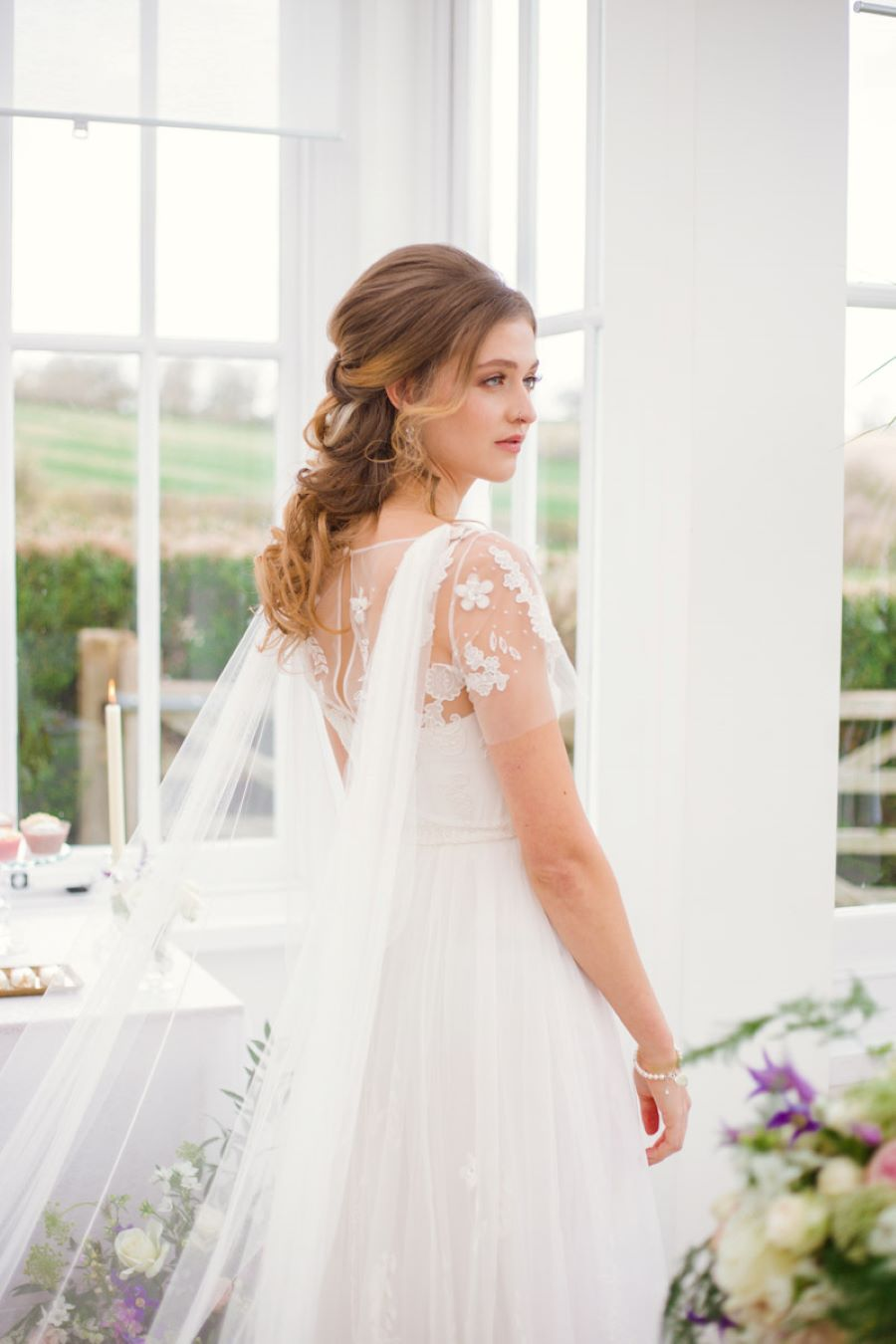 Light and romance with natural blush tones - wedding ideas from Downham Hall. Photographer credit Magical Moments Photography (7)