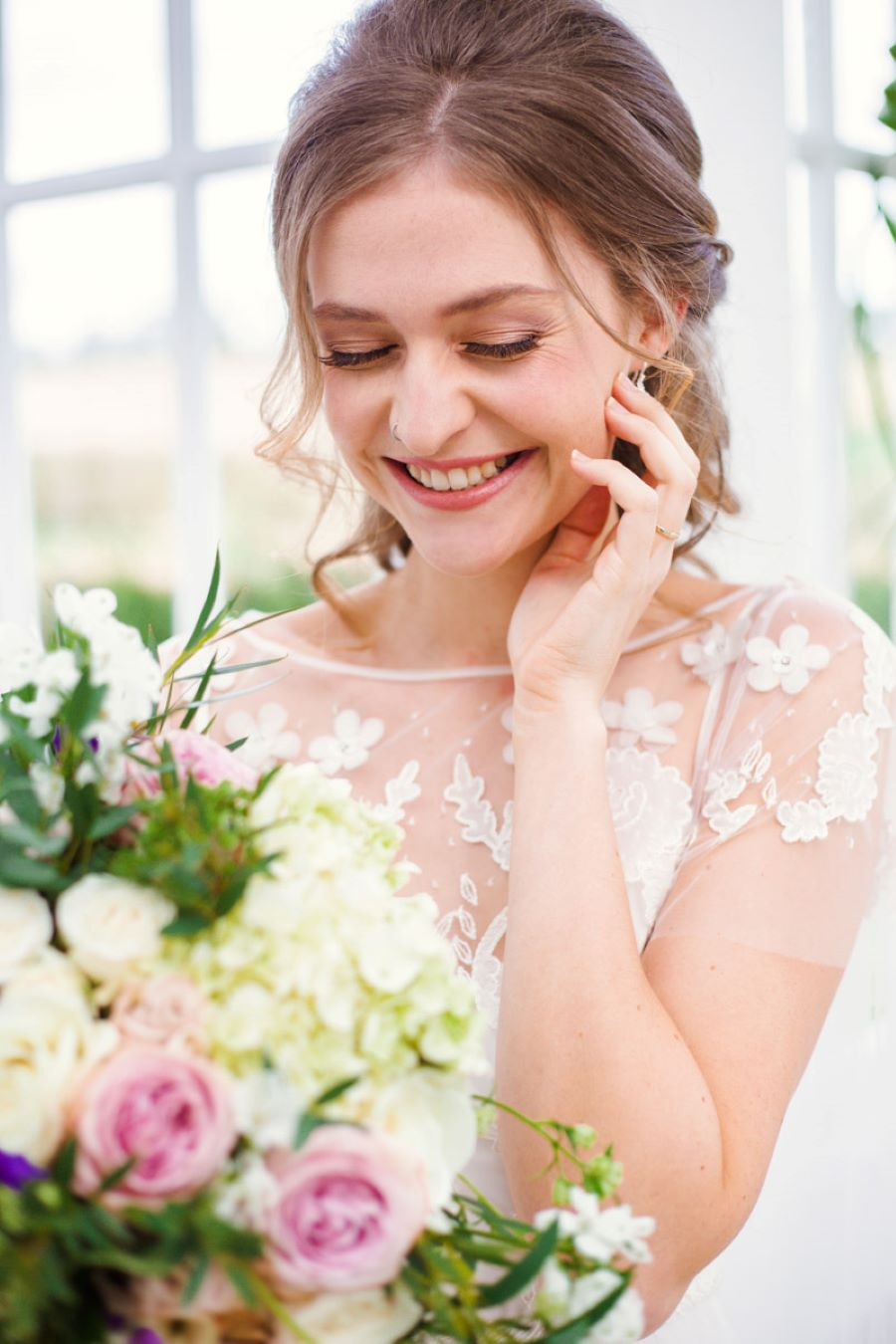 Light and romance with natural blush tones - wedding ideas from Downham Hall. Photographer credit Magical Moments Photography (8)