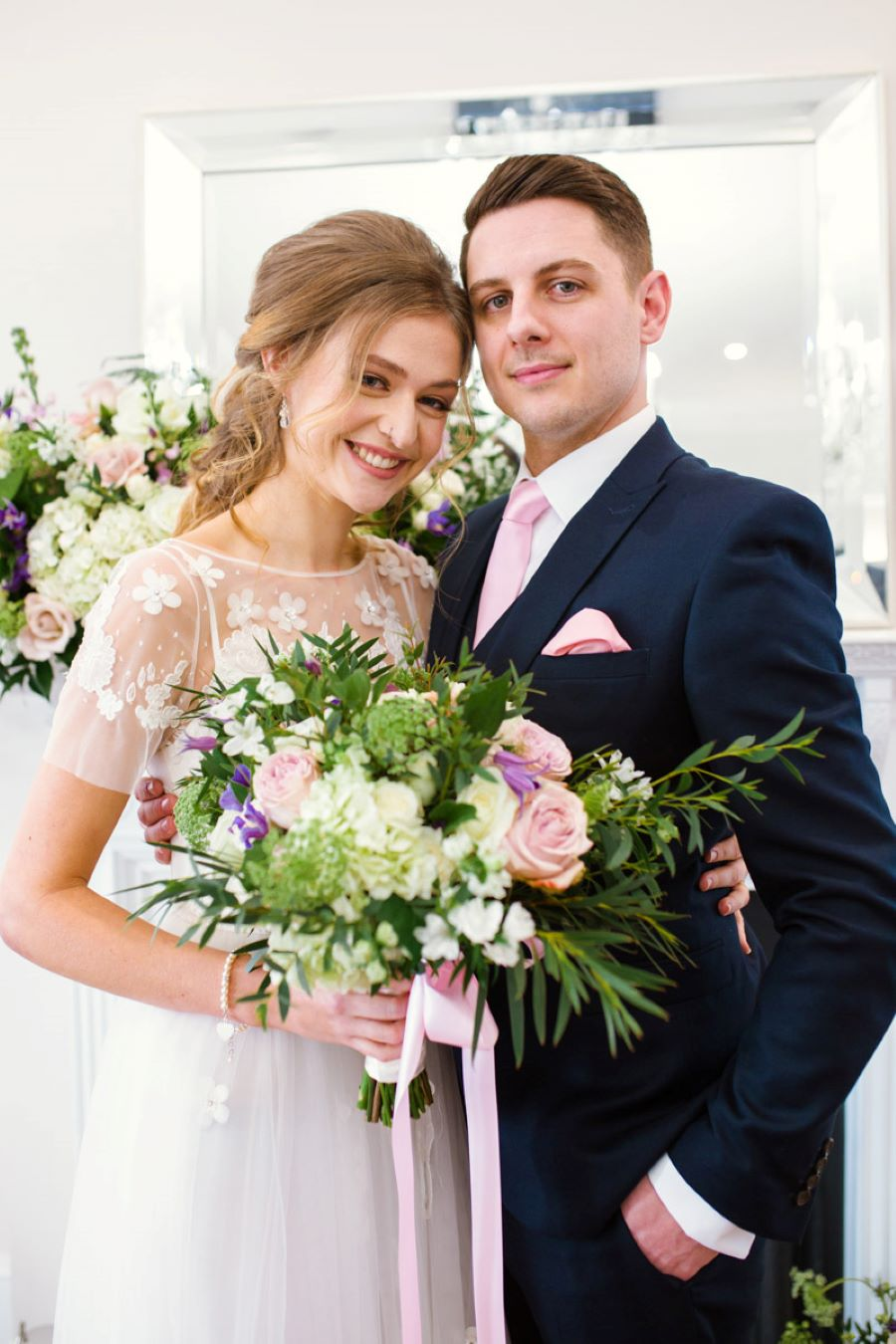 Light and romance with natural blush tones - wedding ideas from Downham Hall. Photographer credit Magical Moments Photography (13)