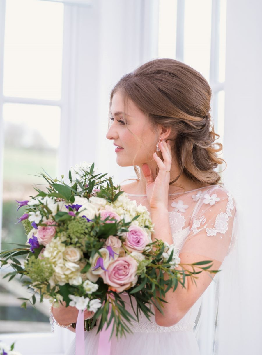 Light and romance with natural blush tones - wedding ideas from Downham Hall. Photographer credit Magical Moments Photography (15)