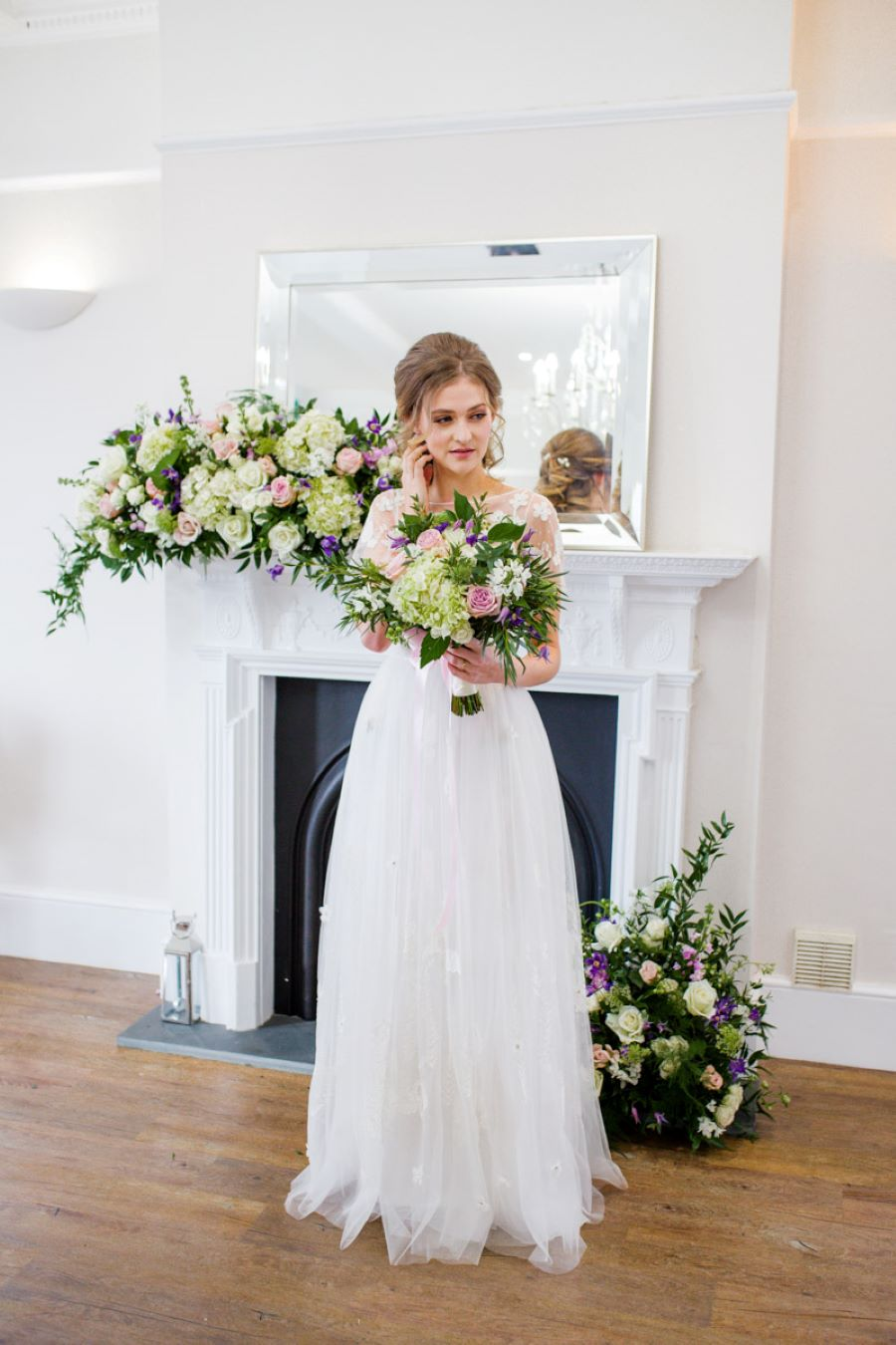 Light and romance with natural blush tones - wedding ideas from Downham Hall. Photographer credit Magical Moments Photography (18)