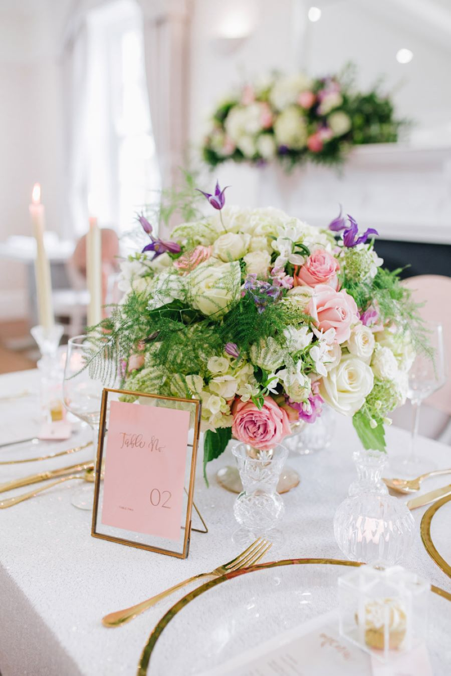 Light and romance with natural blush tones - wedding ideas from Downham Hall. Photographer credit Magical Moments Photography (26)