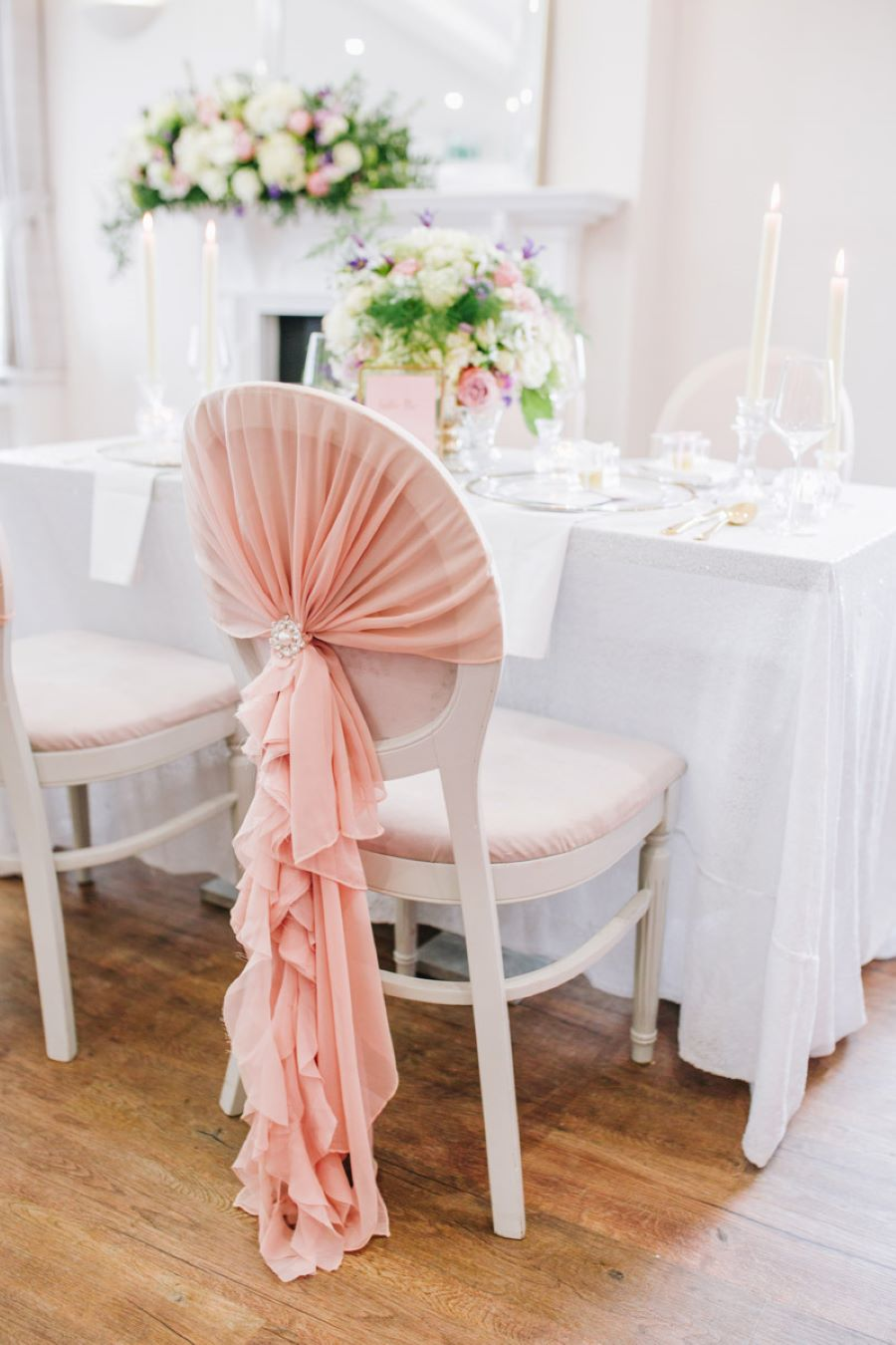 Light and romance with natural blush tones - wedding ideas from Downham Hall. Photographer credit Magical Moments Photography (29)