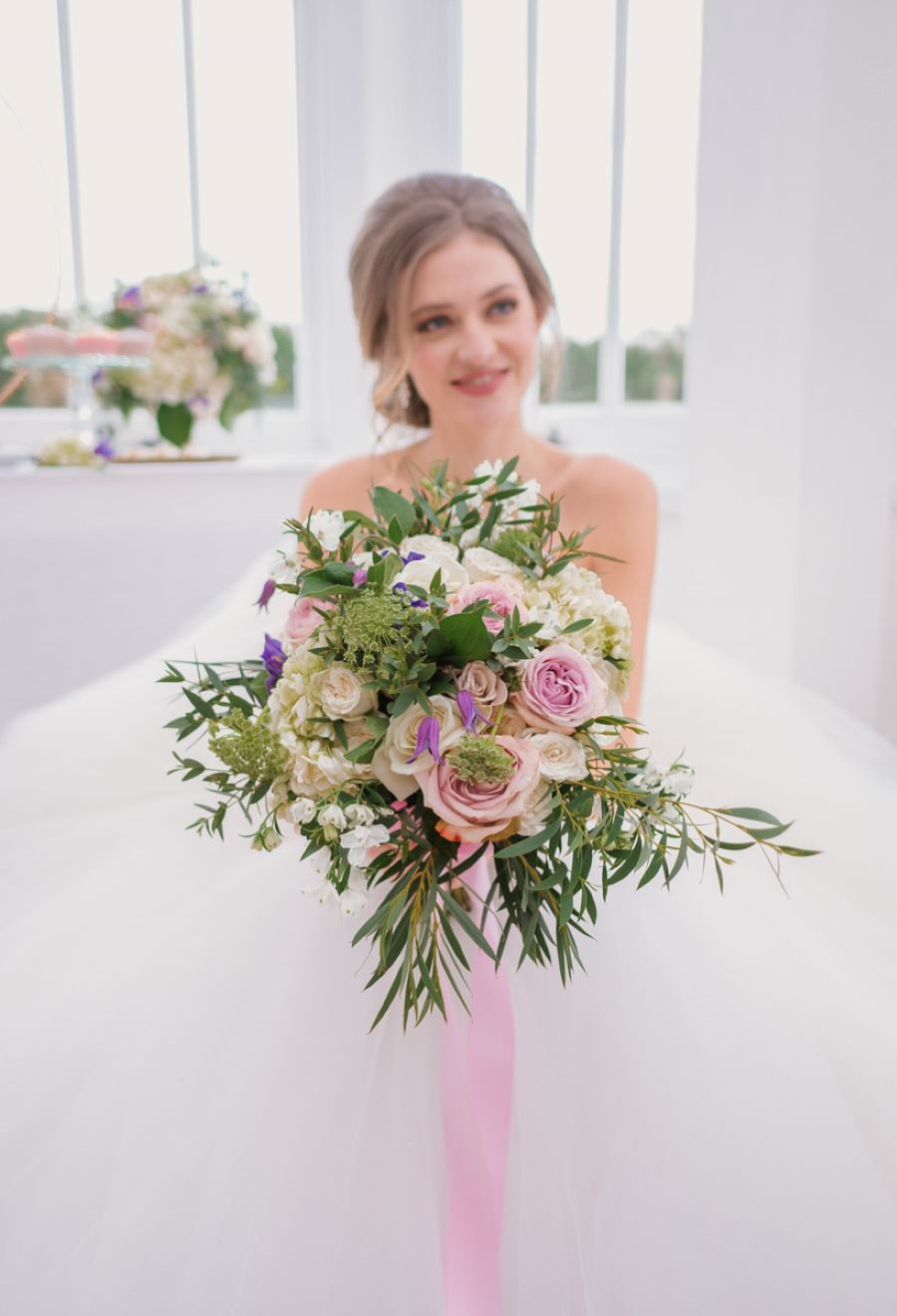 Light and romance with natural blush tones - wedding ideas from Downham Hall. Photographer credit Magical Moments Photography (40)