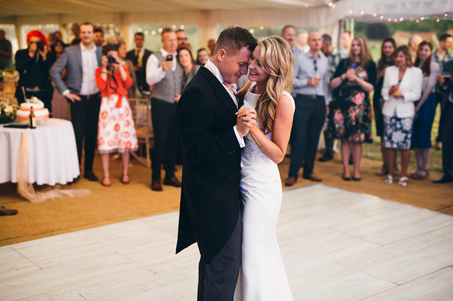 romantic slow wedding dance, image by Simon Biffen Photography