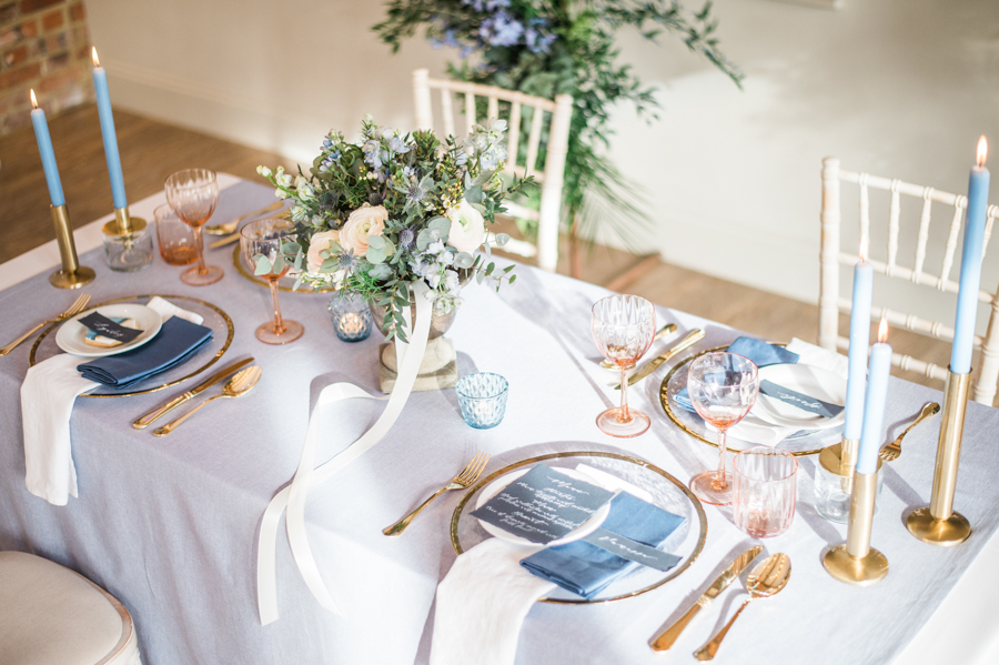 Beautiful blue wedding inspiration for 2021 couples, photo credit Laura Jane Photography (7)