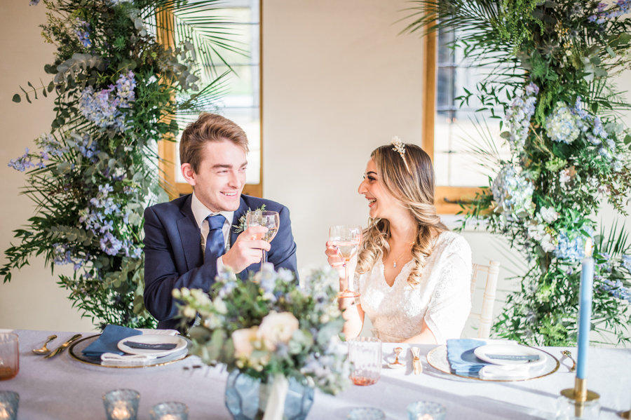 Beautiful blue wedding inspiration for 2021 couples, photo credit Laura Jane Photography (6)