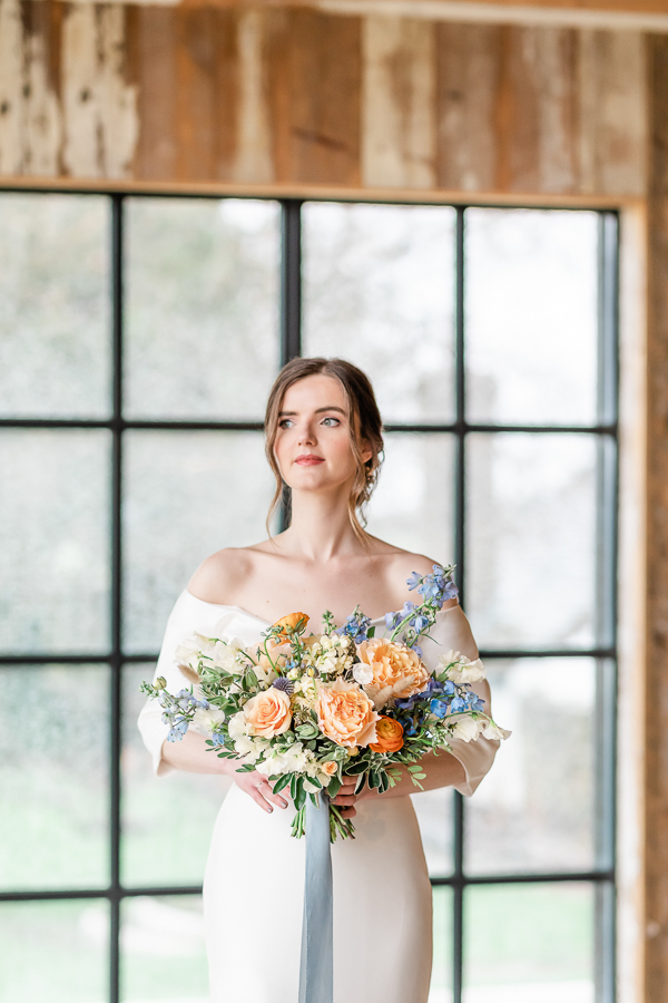 Effortlessly romantic, colourful spring wedding style from Botley Hill Barn (10)