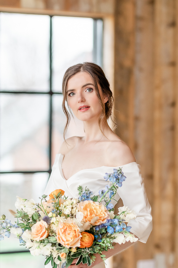 Effortlessly romantic, colourful spring wedding style from Botley Hill Barn (11)