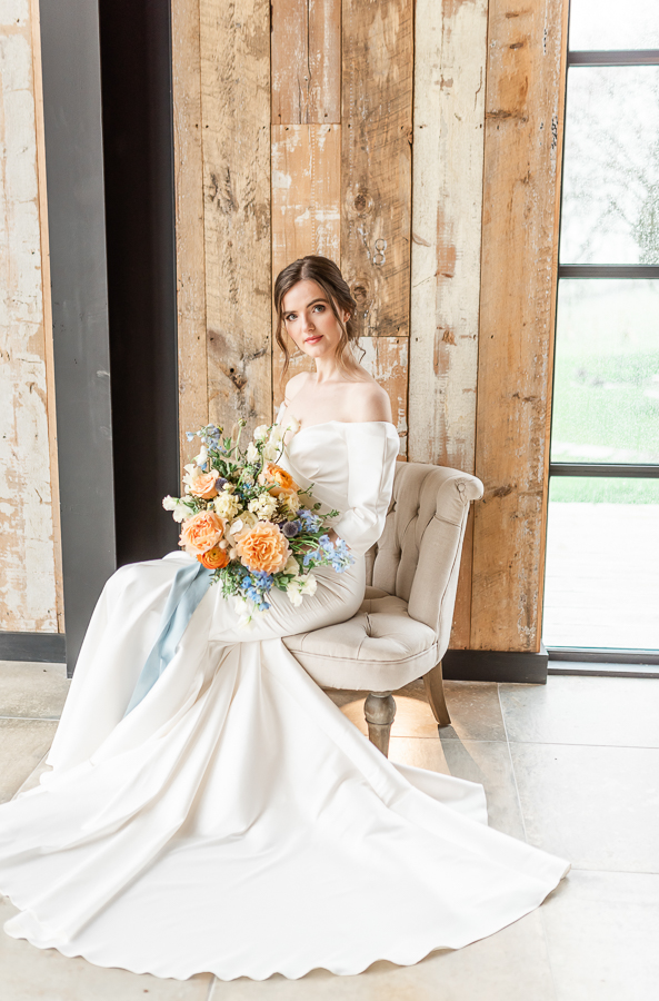 Effortlessly romantic, colourful spring wedding style from Botley Hill Barn (12)