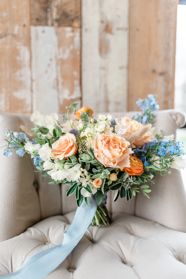 Effortlessly romantic, colourful spring wedding style from Botley Hill Barn (14)