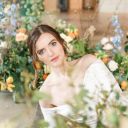 Effortlessly romantic, colourful spring wedding style from Botley Hill Barn