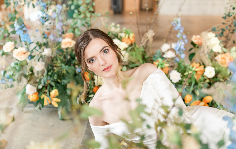 Effortlessly romantic, colourful spring wedding style from Botley Hill Barn (15)