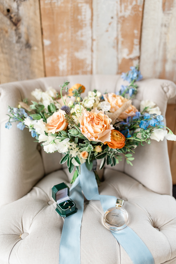 Effortlessly romantic, colourful spring wedding style from Botley Hill Barn (18)