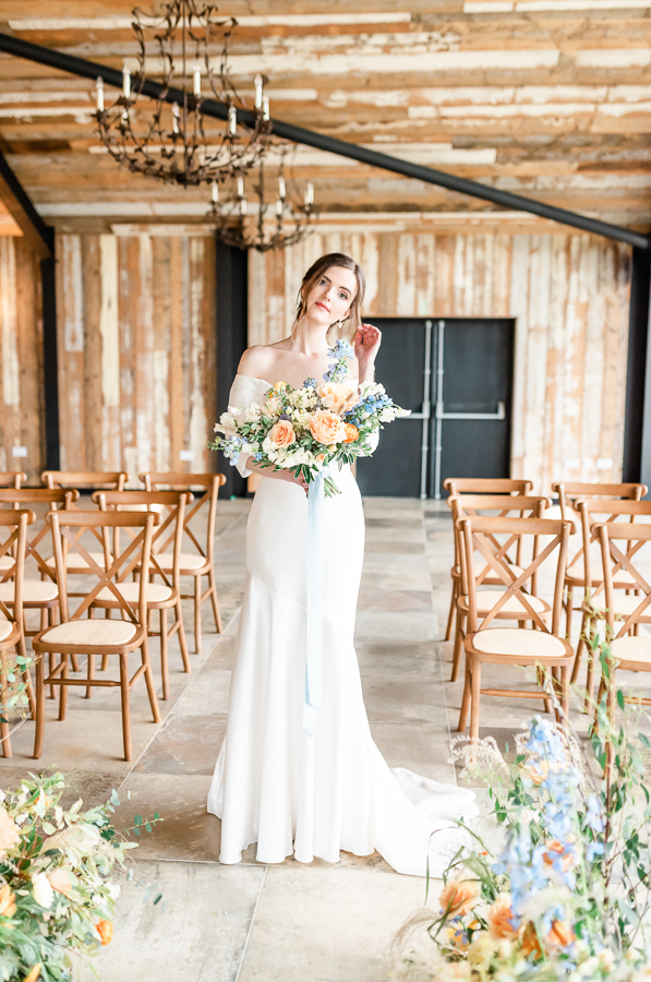 Effortlessly romantic, colourful spring wedding style from Botley Hill Barn (23)