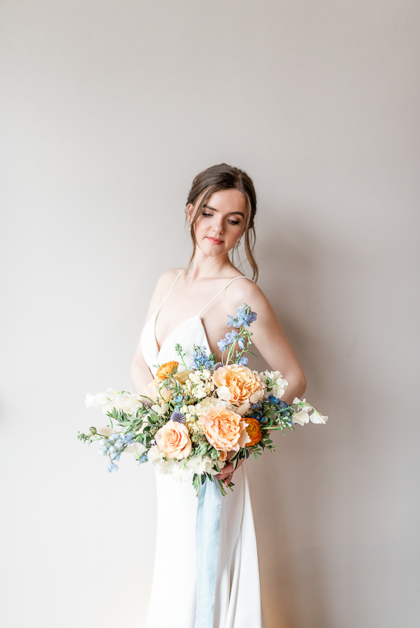 Effortlessly romantic, colourful spring wedding style from Botley Hill Barn (39)