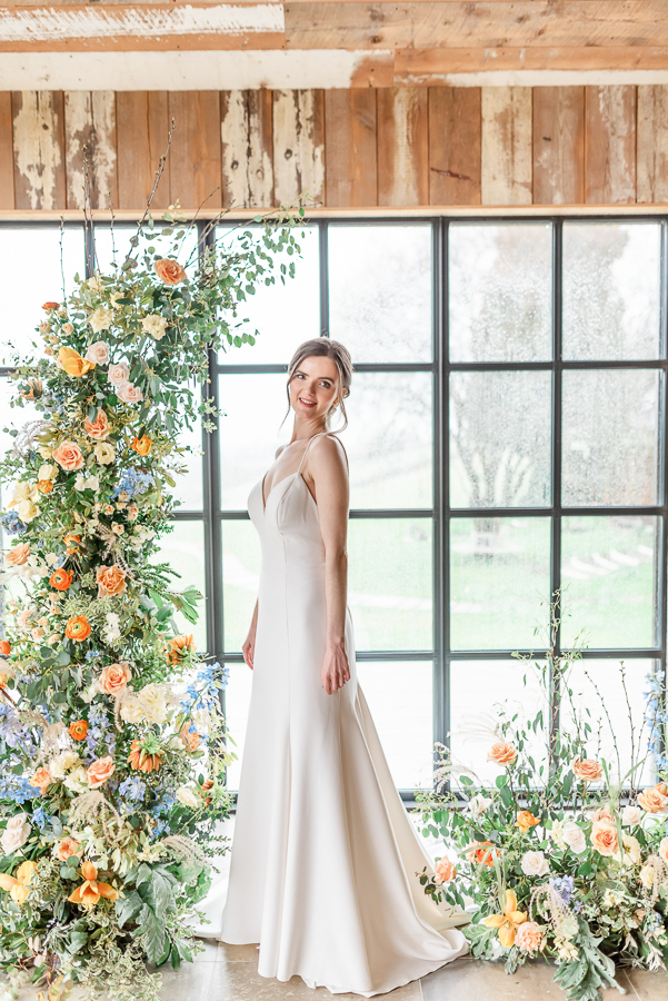 Effortlessly romantic, colourful spring wedding style from Botley Hill Barn (42)