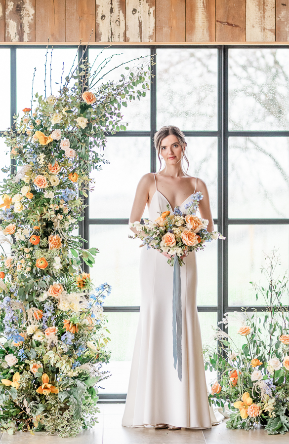 Effortlessly romantic, colourful spring wedding style from Botley Hill Barn (47)