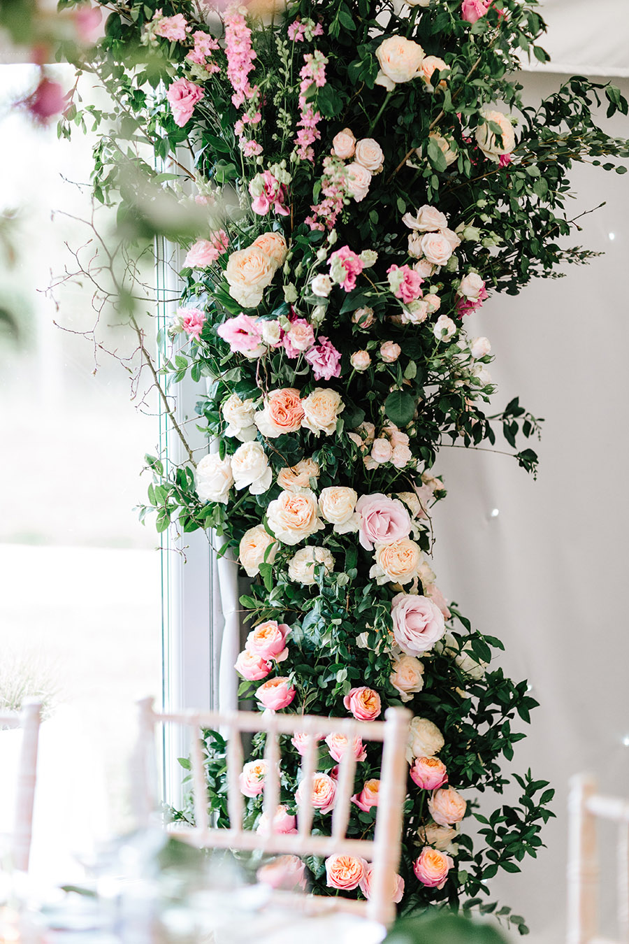 Incredible florals for Maryanne & Adam's beautiful Chippenham Park Hall wedding, with images by Nick + Maria (36)