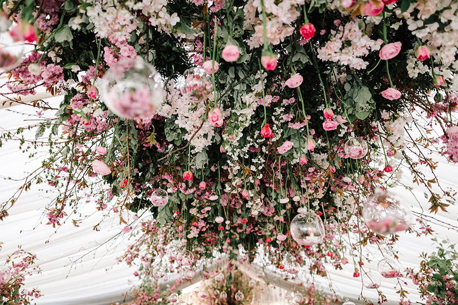 Incredible florals for Maryanne & Adam's beautiful Chippenham Park Hall wedding, with images by Nick + Maria (37)