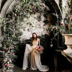 Elegant, floral and ethical French abbey editorial
