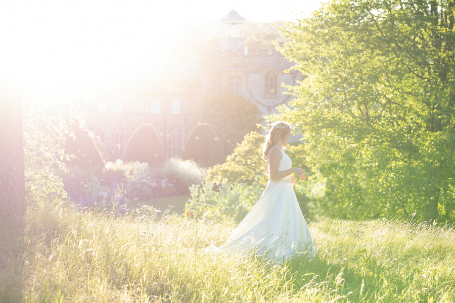 Chloe in evening light at Forde Abbey Somerset by Evolve Photography