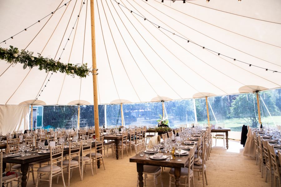 Cotswolds marquee wedding photography by Sam Bunney