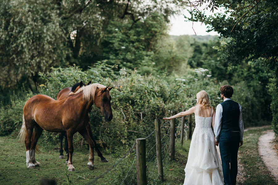 Brilliant collection of animals at weddings photos by Somerset photographer Simon Biffen on English Wedding (8)