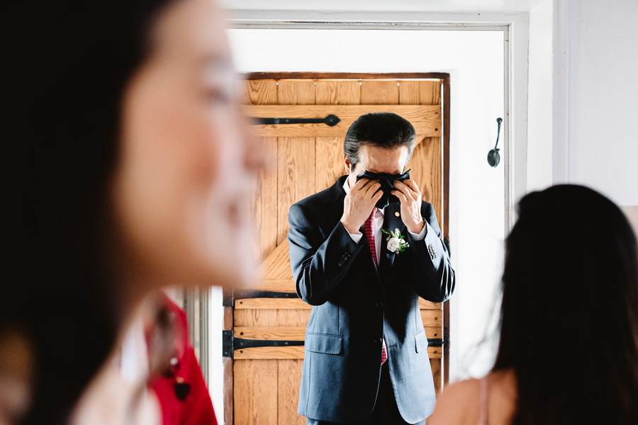 Emotional Father of the Bride, captured by Fiona Kelly Photography