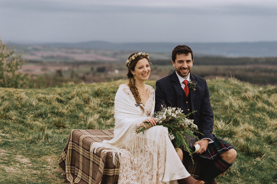 Nat & Oli's wild hilltop wedding with Fox and Bear Photography (25)
