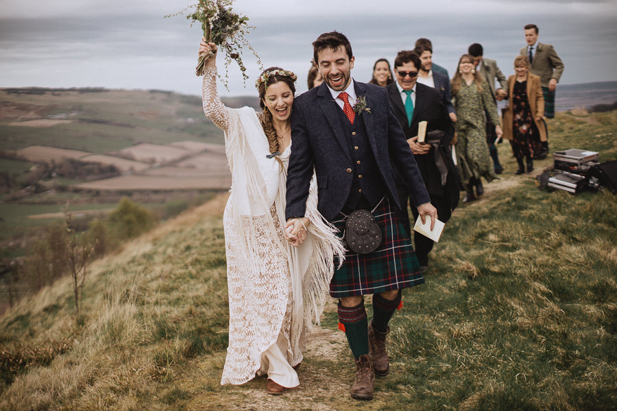 Nat & Oli's wild hilltop wedding with Fox and Bear Photography (27)