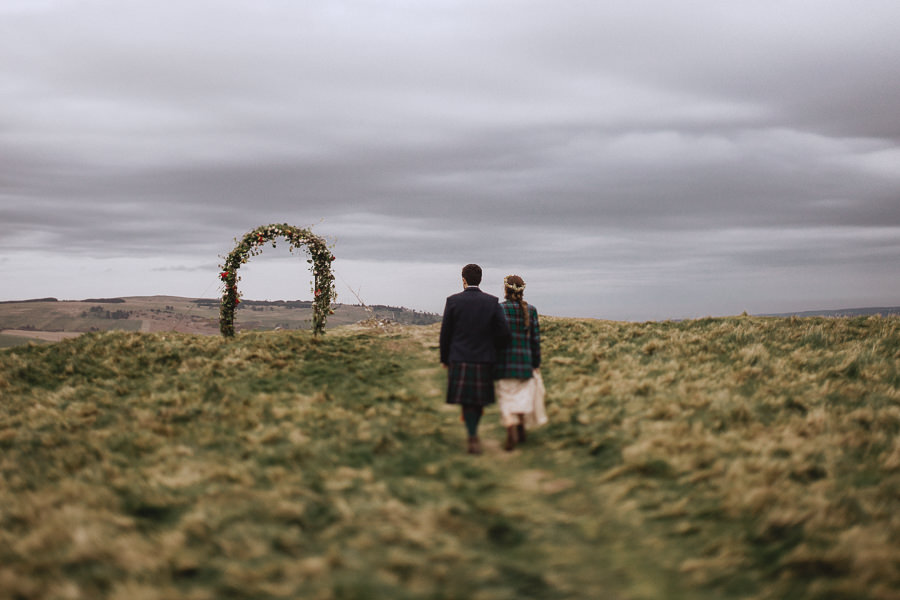 Nat & Oli's wild hilltop wedding with Fox and Bear Photography (30)