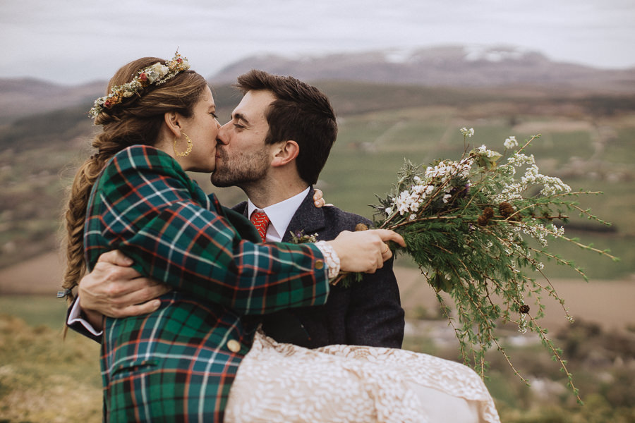 Nat & Oli's wild hilltop wedding with Fox and Bear Photography (33)