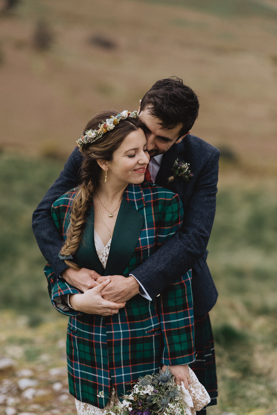 Nat & Oli's wild hilltop wedding with Fox and Bear Photography (37)