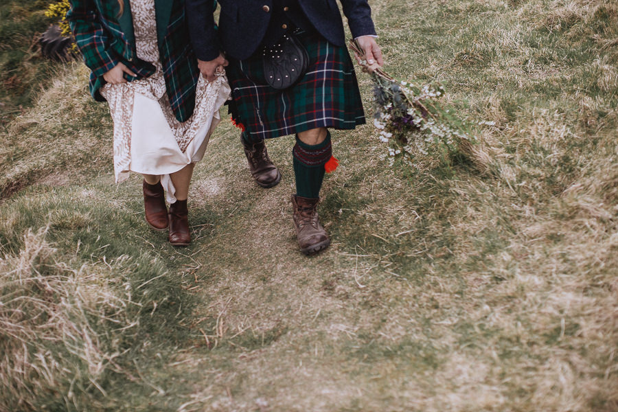 Nat & Oli's wild hilltop wedding with Fox and Bear Photography (39)