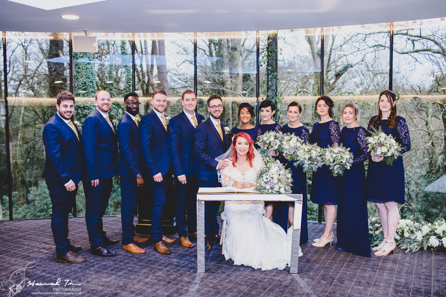 Jenny & Chris's winter wedding at Fairyhill, with Hannah Timm Photography (8)
