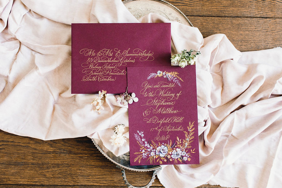 Calligraphy for weddings by Claire Gould, By Moon and Tide Calligraphy UK (12)